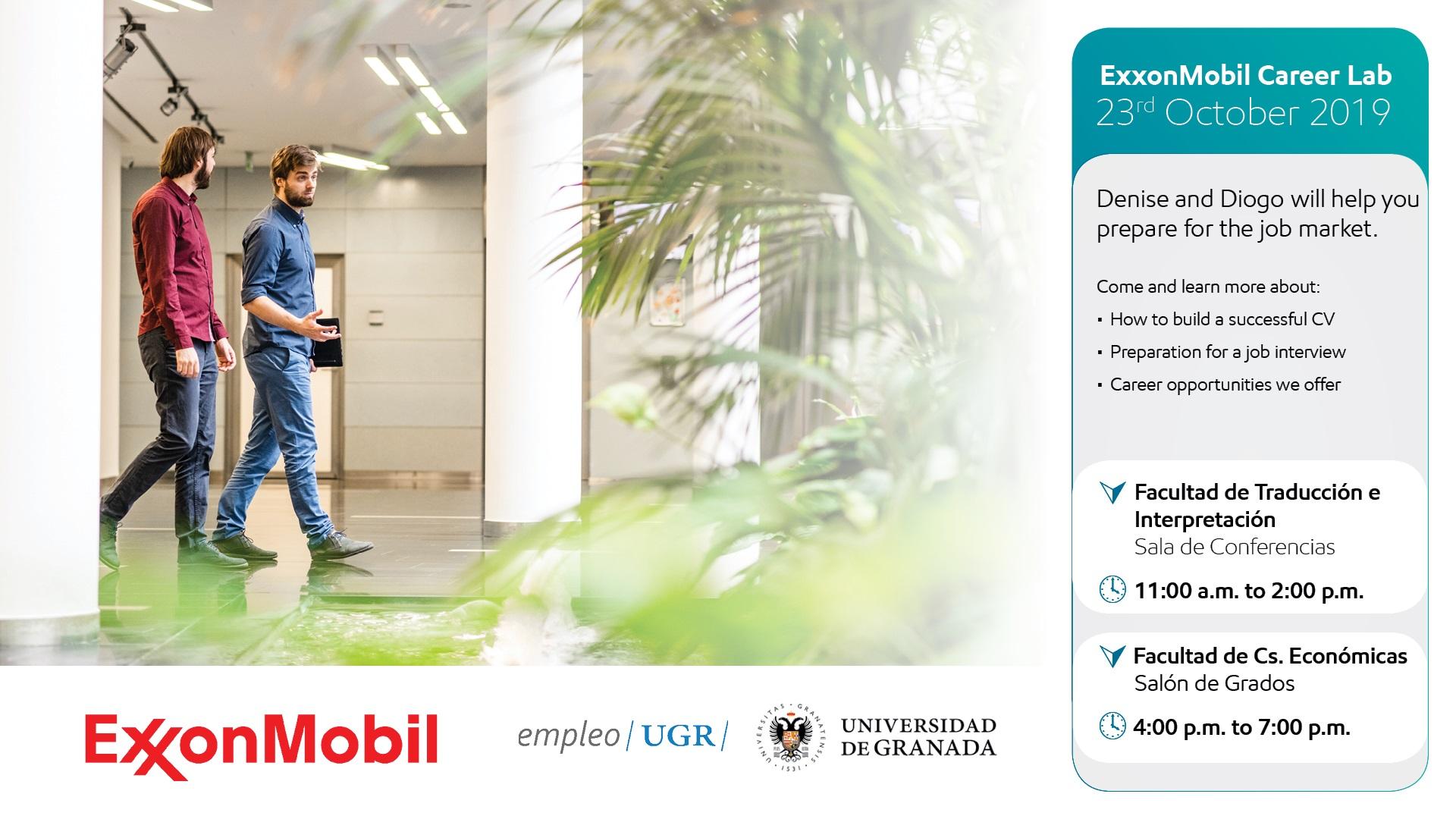 Imagen de portada de La Agencia de Colocación de la Universidad de Granda organiza la presentación de Exxonmobil