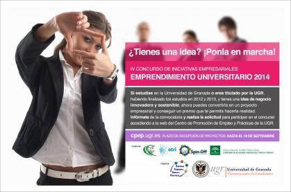 Imagen de portada de IV Concurso de emprendimiento universitario. Premios de hasta 3.000 Euros
