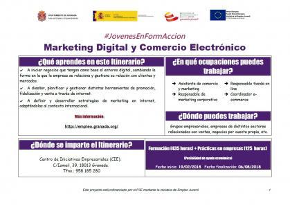 Imagen de portada de Itinerario marketing digital y comercio electrónico