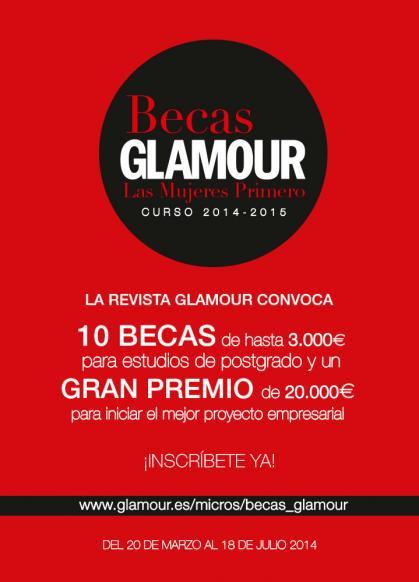 Imagen de portada de Becas Glamour 2014 para estudiantes y emprendedoras. Las mujeres primero