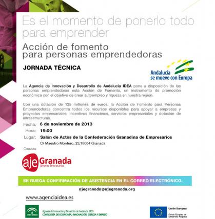 Imagen de portada de Jornada de presentación ayudas de la Agencia IDEA