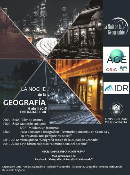 Imagen de portada de La Noche de la Geografía