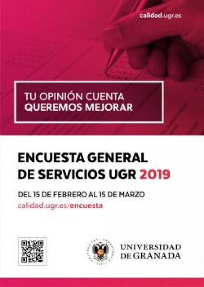 Imagen de portada de Encuesta de satisfacción con los servicios de la UGR