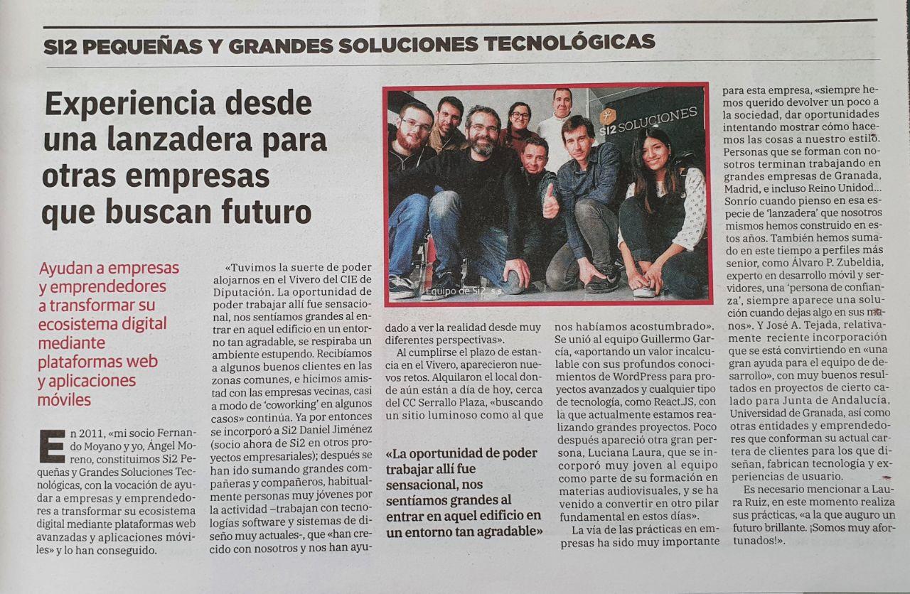 Imagen de portada de La importancia de las prácticas: «Personas que se forman con nosotros acaban trabajando en grandes empresas de Granada, Madrid o Reino Unido»