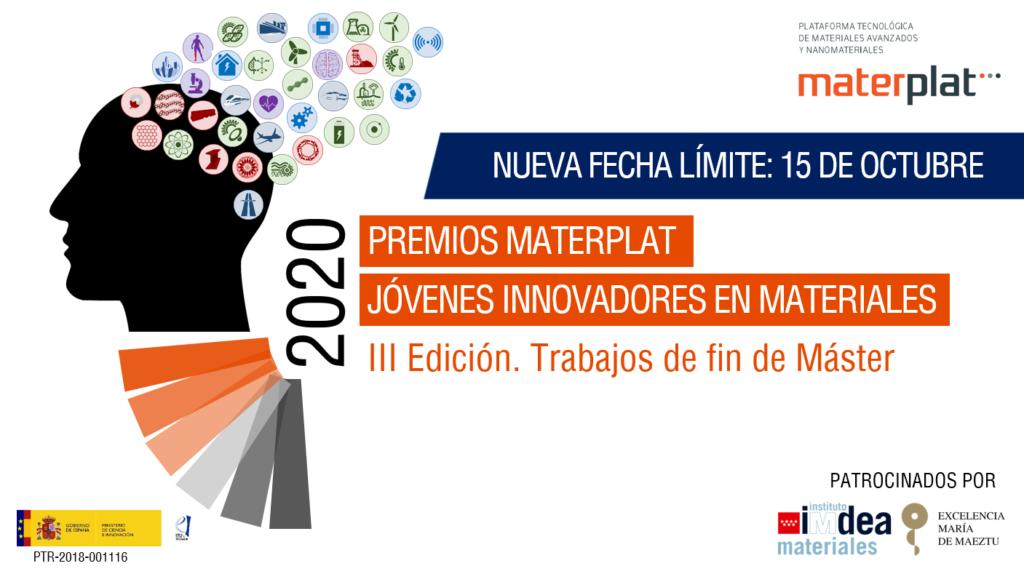 Imagen de portada de III Edición de los Premios MATERPLAT Jóvenes Innovadores en Materiales