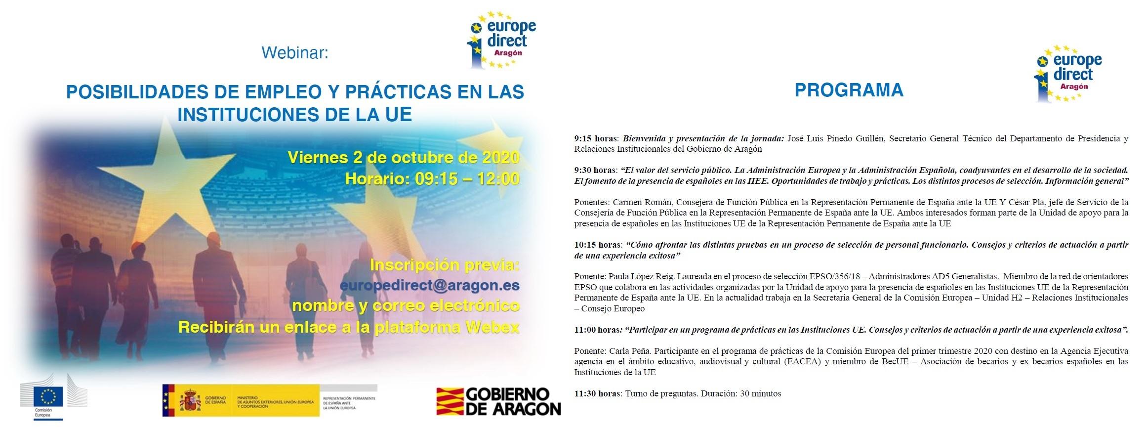 Imagen de portada de Jornada Posibilidades de empleo y prácticas en las Instituciones de la UE