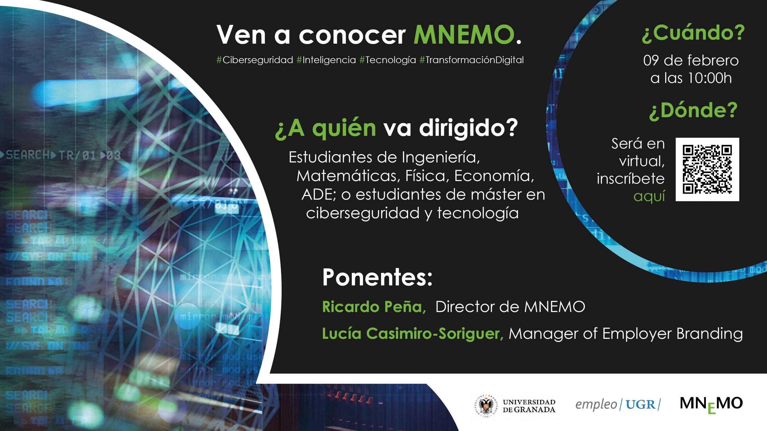 Imagen de portada de @empleougr presenta el Programa Jóvenes Talentos UGR de la Empresa MNEMO