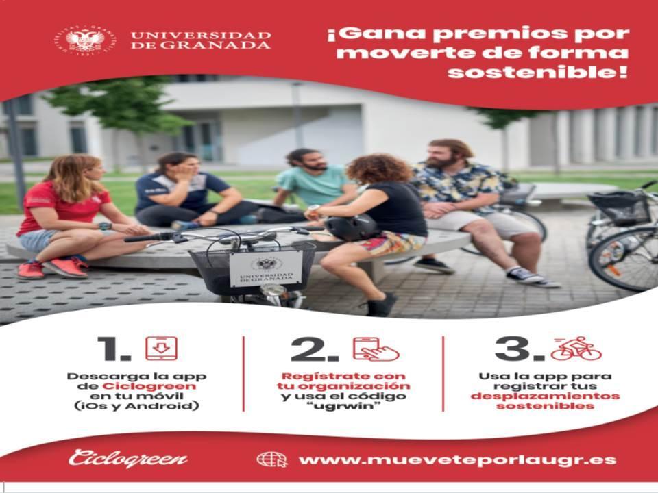 Imagen de portada de «Muévete por la UGR» analiza cómo se desplaza la Comunidad Universitaria en los Campus de Granada, Ceuta y Melilla