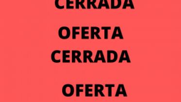 OFERTA CERRADA